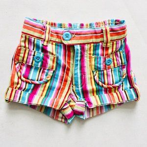 70's Style Striped Shorts